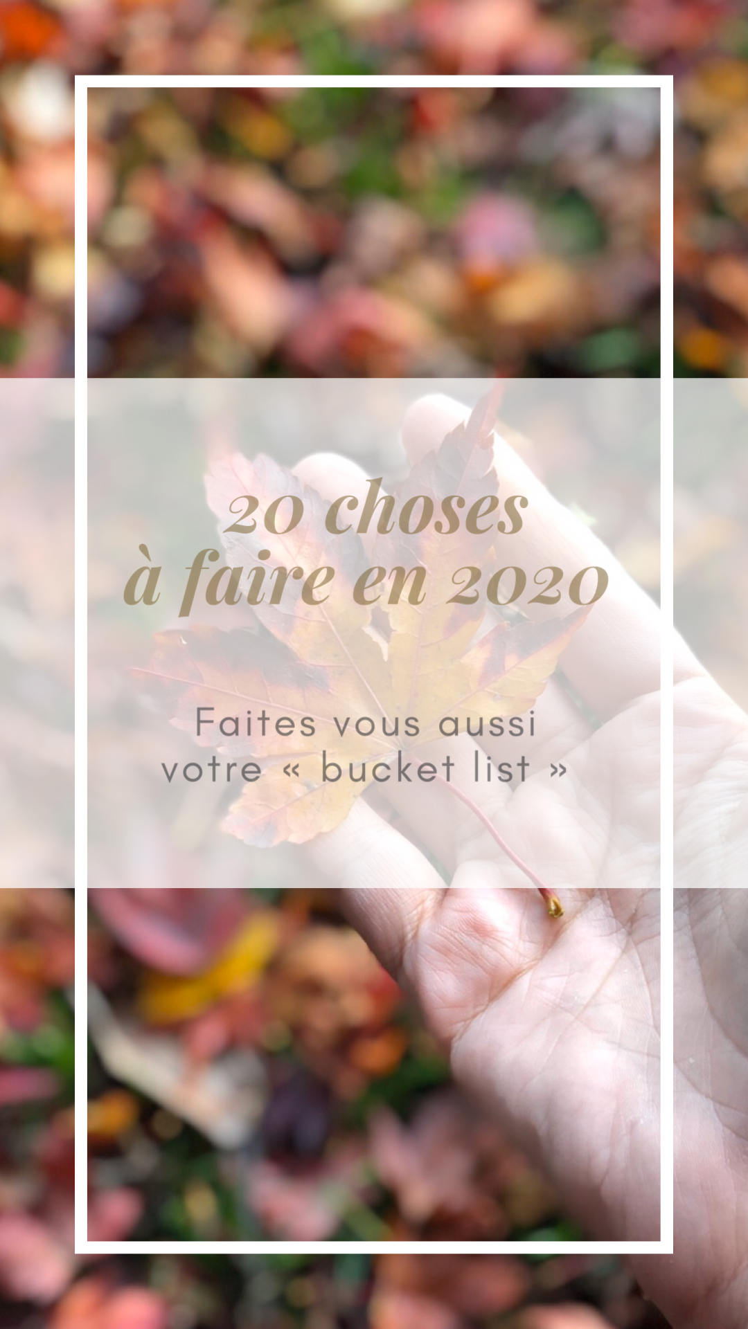 20 choses à faire en 2020